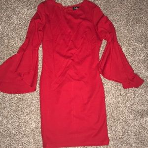 Sexy red cocktail dress!